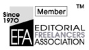 Member: Editorial Freelancers Association (EFA)